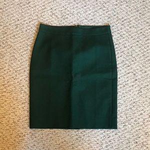 Jcrew No. 2 double serge pencil skirt in green